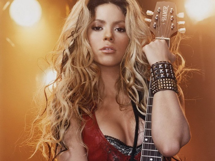Shakira Sexy Guitar Hottest Women 32x24 Print Poster