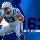 Jeff Saturday Indianapolis Colts NFL 32x24 Print Poster