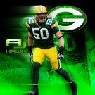 AJ Hawk Green Bay Packers NFL 32x24 Print Poster