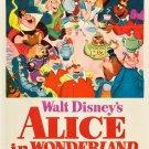 Alice In Wonderland Walt Disney Cartoon 32x24 Print POSTER