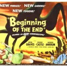 Beginning Of End Movie Peter Graves 32x24 Print POSTER