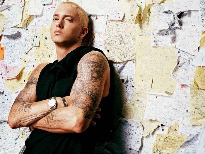 Funny People Singer Eminem 32x24 Print POSTER