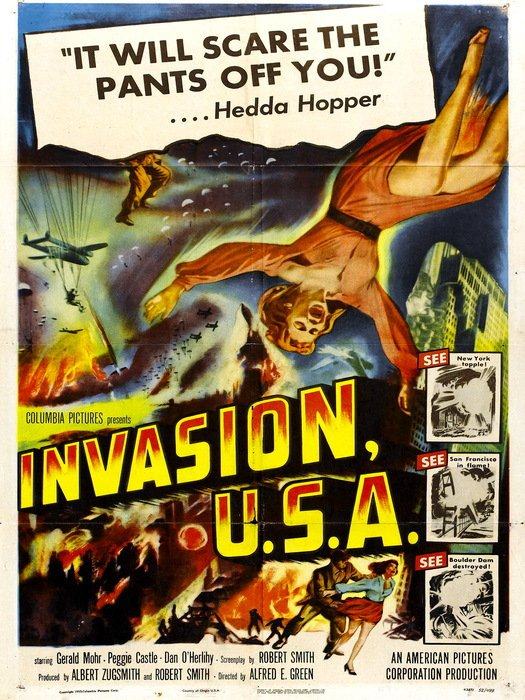 Invasion USA 1952 Retro Movie Vintage 32x24 Print Poster