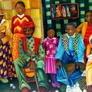 African American Family Painting Art Vintage 32x24 Print Poster