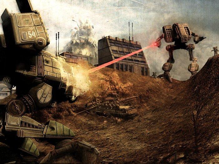 Battletech Mechwarrior Laser Game Art 32x24 Print Poster