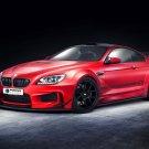 BMW M6 Red Car 32x24 Print Poster