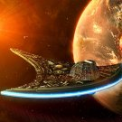 Space Starship Planet Sci Fi Painting Art 32x24 Print Poster
