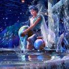 Aquarius Zodiac Astrological Sign Art 32x24 Print Poster
