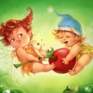 Fairy Kids Babies Cute Painting Art 32x24 Print Poster