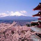 Mount Fuji Honshu Island Japan 32x24 Print Poster
