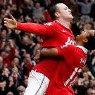 Manchester United Wayne Rooney Nani 32x24 Print Poster