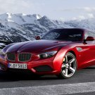 BMW Red Sport Car Mountains 32x24 Print Poster
