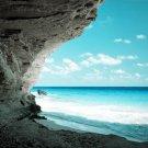 Beautiful Blue Seashore Rocks 32x24 Print Poster