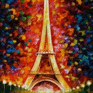 Eiffel Tower Paris Leonid Afremov Art 32x24 Print Poster