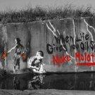 Make Molotovs Banksy Art 32x24 Print Poster