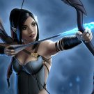 Elf Girl Archer Bow Arrow Fantasy Art 32x24 Print Poster