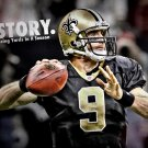 Drew Brees New Orleans Saints NFL Sport 32x24 Print Poster