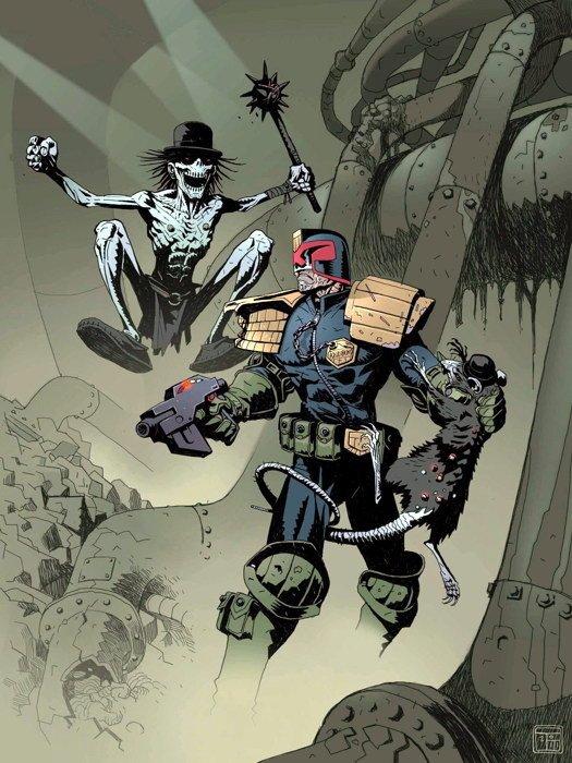 Judge Dredd 2000 AD Comics Art 32x24 Print Poster