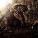 Dinosaur Tarbosaurus Art Animal Nature 32x24 Print Poster