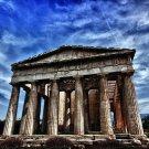 Parthenon Ancient Greek Temple Cityscape 32x24 Print Poster