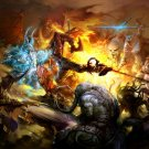 Battle Fire Dota Fantasy Art 32x24 Print Poster