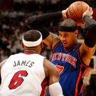 Carmelo Anthony Vs Lebron James Knicks NBA 16x12 Print POSTER