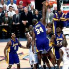 Shaquille O Neal NBA Finals Dunk Lakers 16x12 Print POSTER