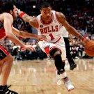 Derrick Rose Chicago Bulls Dribbling NBA 16x12 Print POSTER