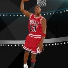 Michael Jordan Dunk Art NBA Basketball 16x12 Print POSTER