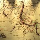 Fellowship S Journey Map Lord Of The Rings 16x12 Print POSTER