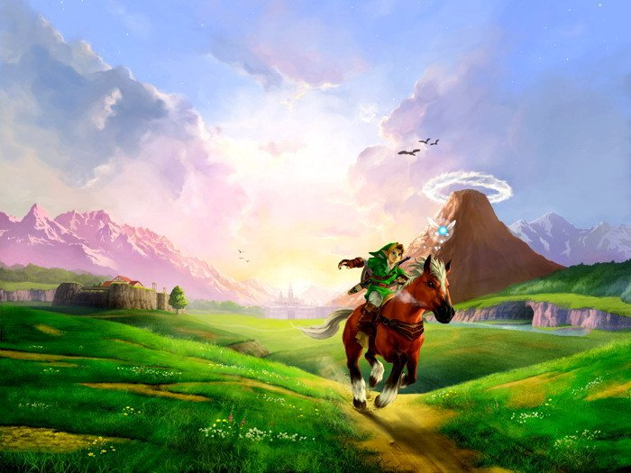 The Legend Of Zelda Ocarina Time 16x12 Print POSTER