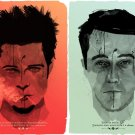 Fight Club Art Edward Norton Brad Pitt 16x12 Print POSTER