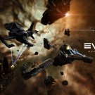 EVE Online Space Mining Ships 16x12 Print POSTER