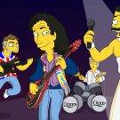 Freddie Mercury Queen Simpson Style Art 16x12 Print POSTER