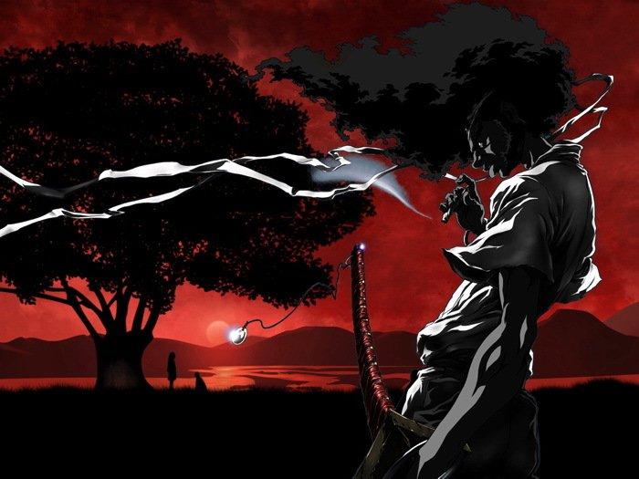 Afro Samurai Anime Manga Art 16x12 Print POSTER