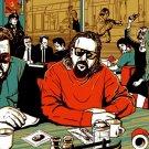 Big Lebovski Reservoir Dogs Pulp Fiction Art Movie 16x12 Print POSTER