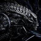 Alien Head H R Giger Abstract Art 16x12 Print POSTER