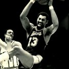 Wilt Chamberlain Rebound Los Angeles Lakers BW NBA Basketball 16x12 POSTER