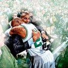 Ray Allen Reggie Miller Record Moment 3pt NBA Basketball 16x12 POSTER