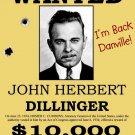 John Herbert Dillinger Wanted Criminal Outlaw 16x12 POSTER