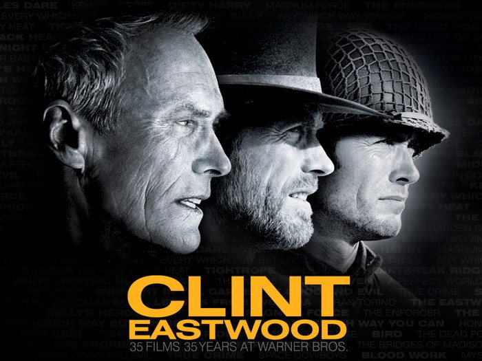 Clint Eastwood Movies Legendary Actor BW 16x12 POSTER
