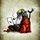 Indian Hindu Sage Old Man Laptop 16x12 POSTER