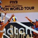 Hot Beach Volleyball Women Sport 16x12 Print POSTER