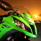 Kawasaki Ninja ZX 10R Sunset Sport Bike 16x12 Print POSTER