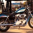 Harley Davidson Classic Bike Motorcycle 16x12 Print POSTER