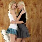 Sexy Blonde Girls Minidress Lesbian 16x12 Print POSTER