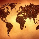 World Map Coffee Beans Cool 16x12 Print POSTER