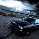Dodge Challenger Black Muscle Car Auto 16x12 Print POSTER