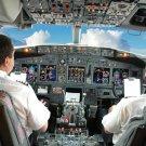 Pilot Crew Cockpit Airliner Aircraft 16x12 Print Poster