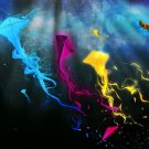 Cool Kites Colors Abstraction 16x12 Print Poster